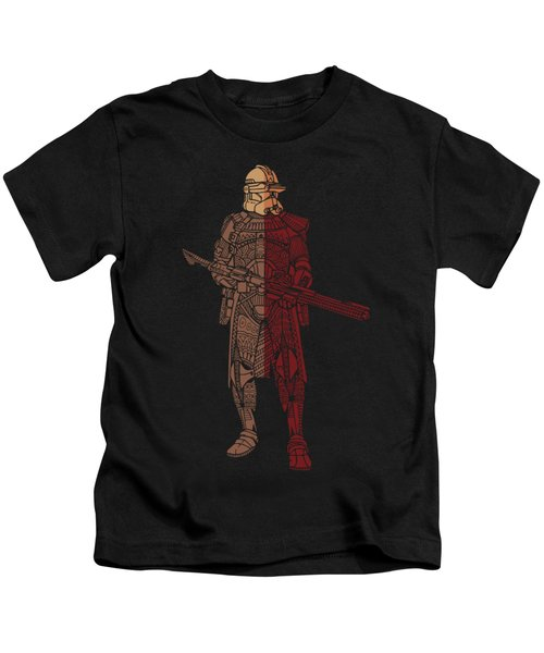 Stormtrooper Samurai - Star Wars Art - Red Brown Kids T-Shirt
