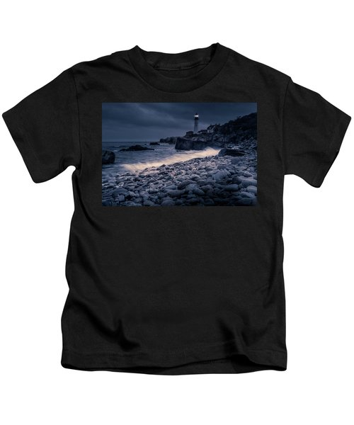 Stormy Lighthouse 2 Kids T-Shirt