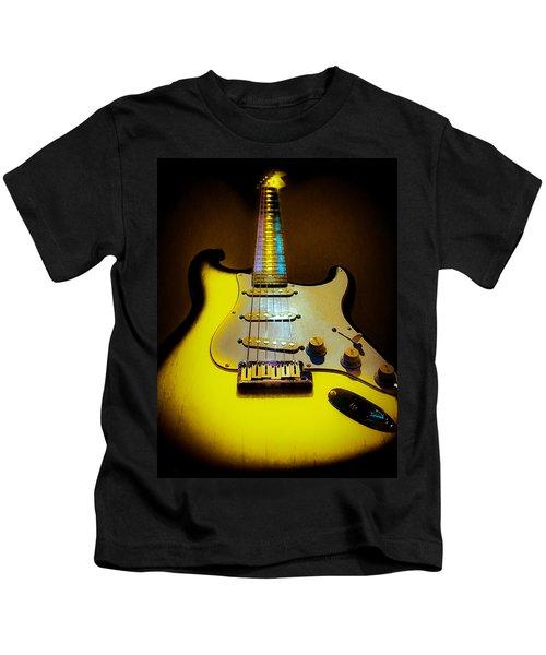Stratocaster Lemon Burst Glow Neck Series Kids T-Shirt