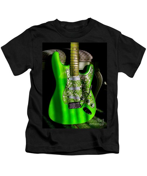 Stratocaster Plus In Green Kids T-Shirt