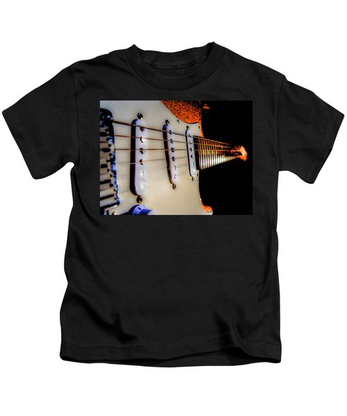 Stratocaster Pop Art Tangerine Sparkle Fire Neck Series Kids T-Shirt