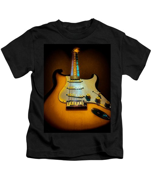 Stratocaster Tobacco Burst Glow Neck Series  Kids T-Shirt