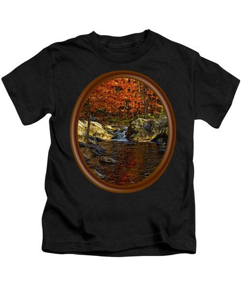Stream In Autumn 58 Kids T-Shirt