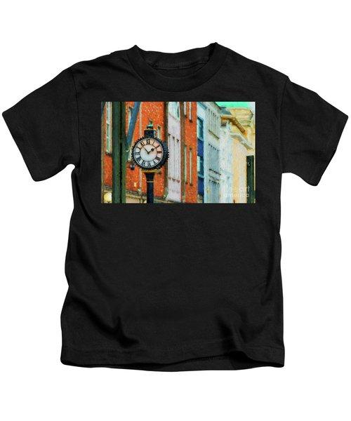 Street Clock In Cork Kids T-Shirt