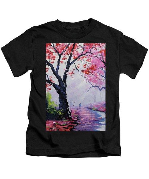 Stroll In The Mist Kids T-Shirt