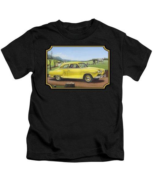 Studebaker Champion Antique Americana Nostagic Rustic Rural Farm Country Auto Car Painting Kids T-Shirt