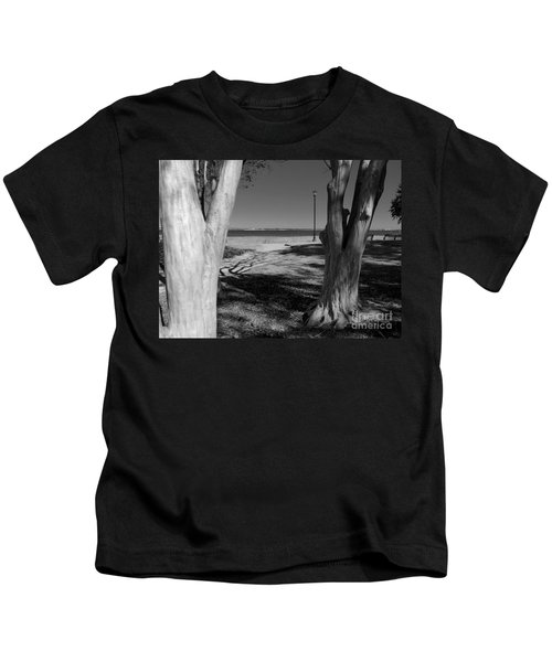 Study In Black And White Kids T-Shirt