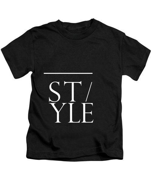 Style 1 - Minimalist Print - Typography - Quote Poster Kids T-Shirt