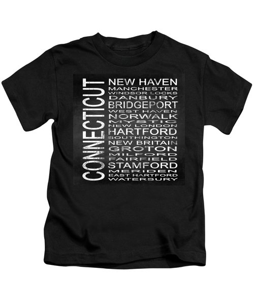Subway Connecticut State Square Kids T-Shirt