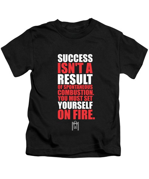 Success Is Not A Result Gym Motivational Quotes Poster Kids T-Shirt