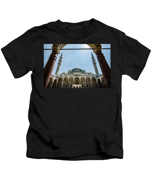 Suleymaniye Mosque And Two Spires Kids T-Shirt