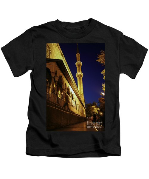 Suleymaniye Mosque In Istanbul At Night Kids T-Shirt