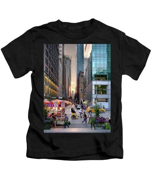 Summer Evening, New York City  -17705-17711 Kids T-Shirt