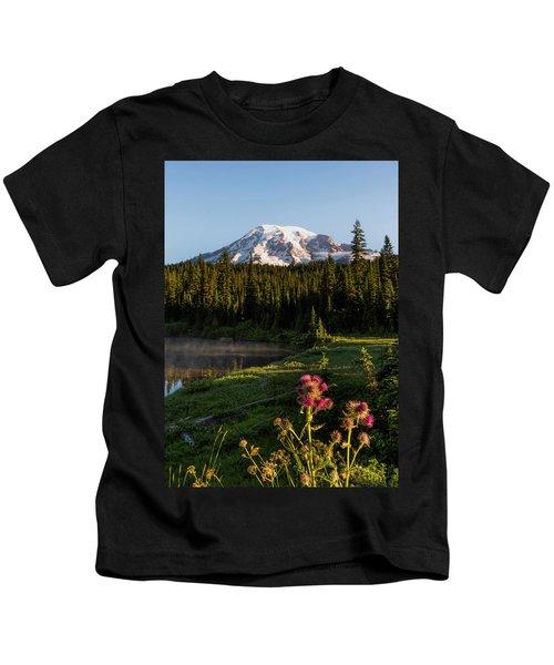 Summer Morning At Mt Rainier Kids T-Shirt