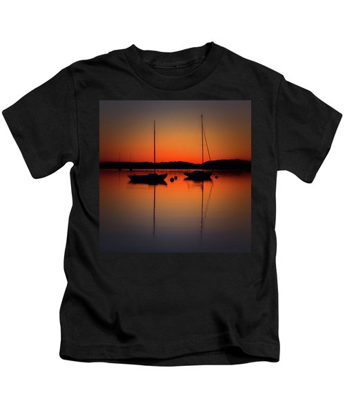 Summer Sunset Calm Anchor Kids T-Shirt
