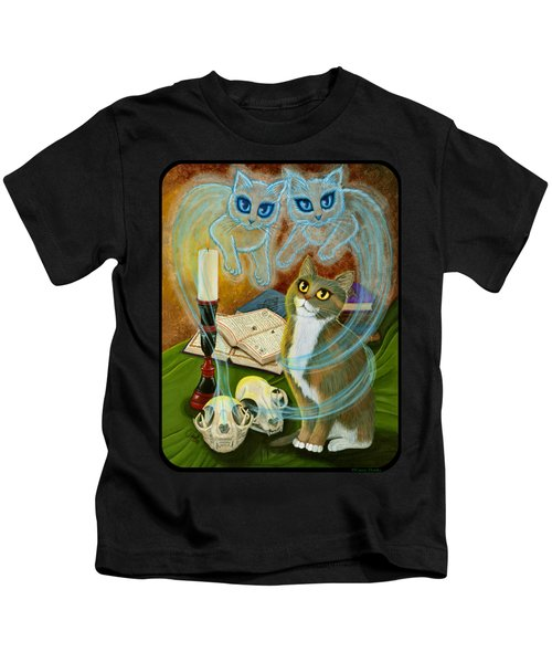 Summoning Old Friends - Ghost Cats Magic Kids T-Shirt