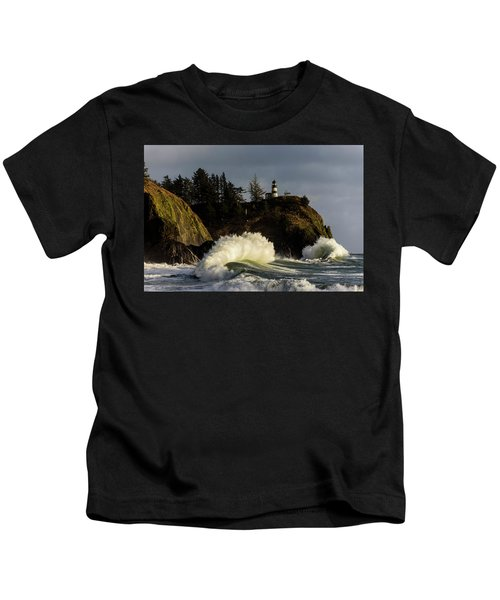 Sun And Surf With Lighthouse Kids T-Shirt