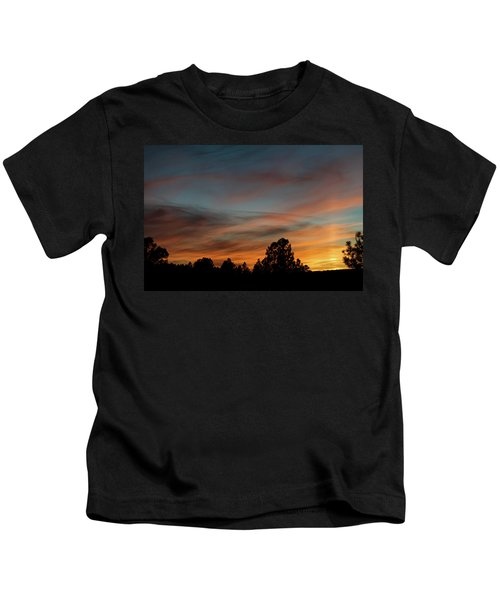Sun Pillar Sunset Kids T-Shirt