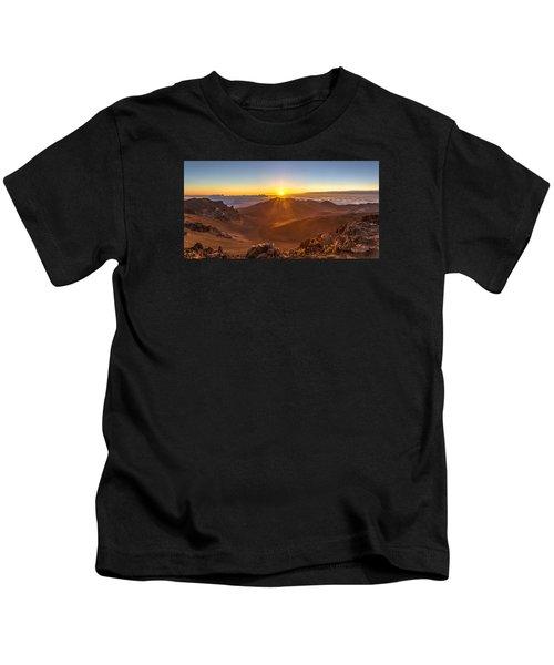 Sun Rising Mount Haleakala Kids T-Shirt