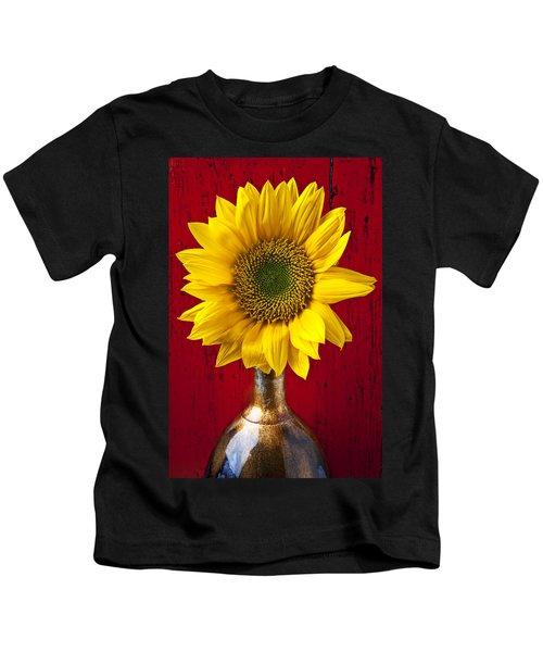 Sunflower Close Up Kids T-Shirt