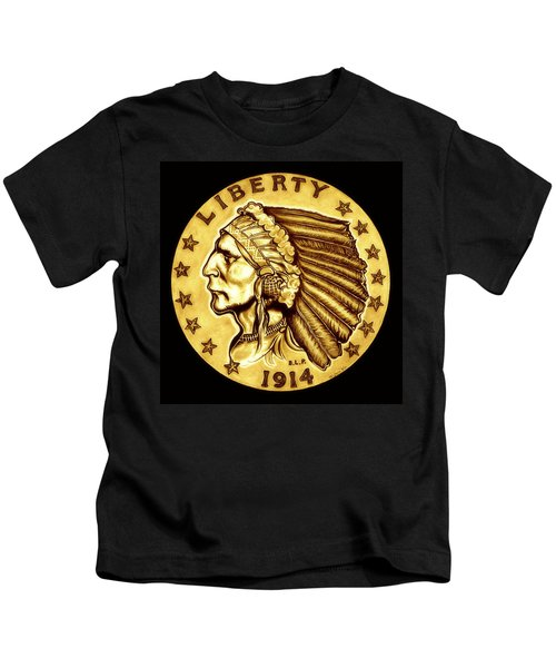 Sunflower Gold Quarter Eagle Kids T-Shirt