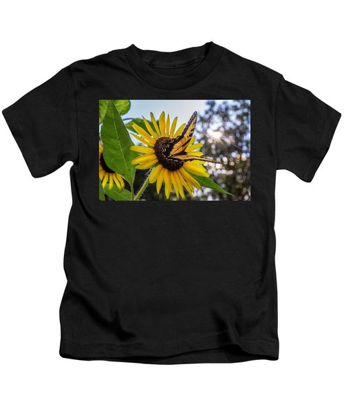 Sunflower Swallowtail Kids T-Shirt
