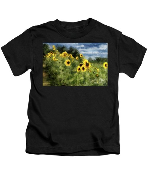 Sunflowers Bowing And Waving Kids T-Shirt