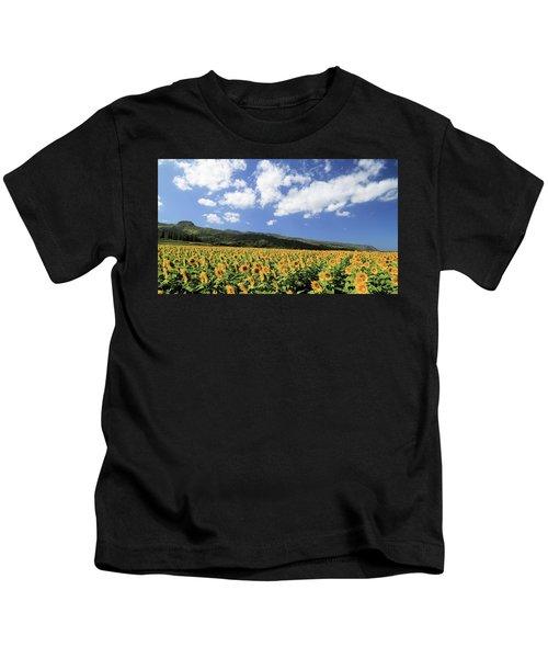 Sunflowers In Waialua Kids T-Shirt