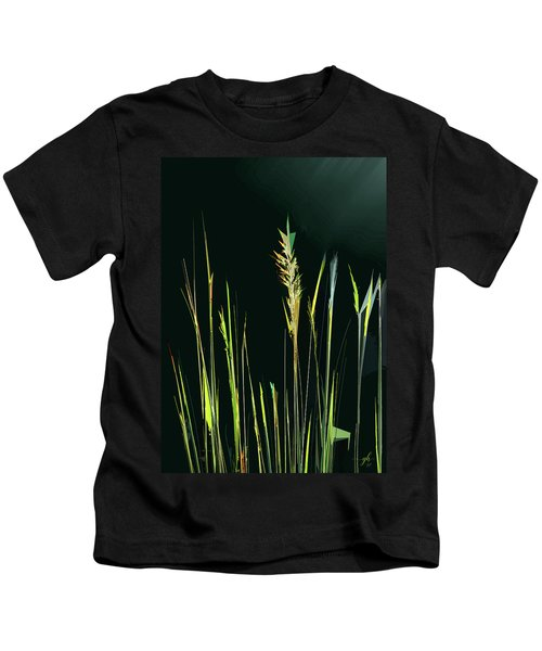 Sunlit Grasses Kids T-Shirt