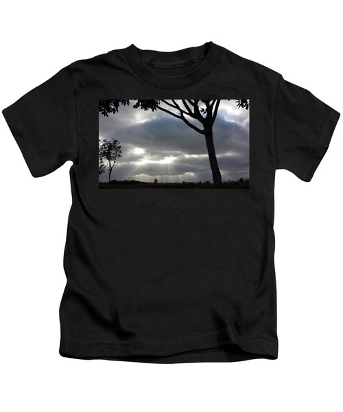 Sunlit Gray Clouds At Otay Ranch Kids T-Shirt