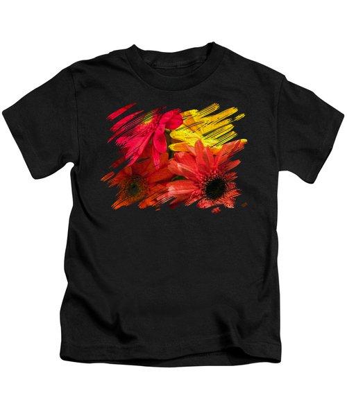 Sunny Daisy Flower Art Kids T-Shirt