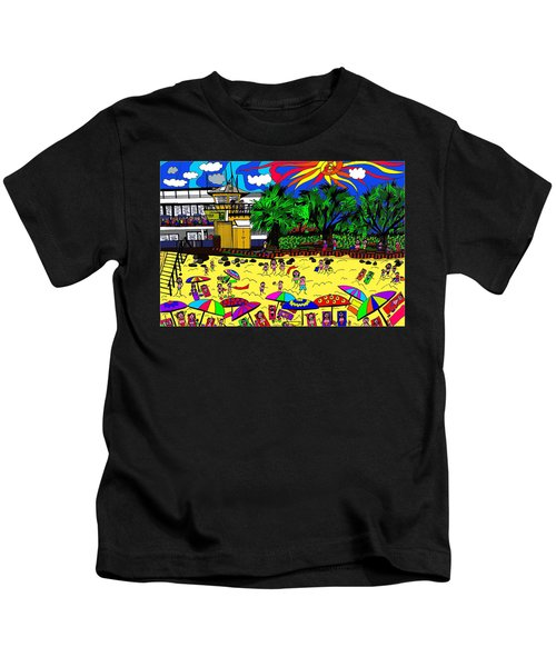 Sunny Day At The Beach Kids T-Shirt