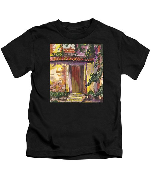 Sunny Doorway Kids T-Shirt