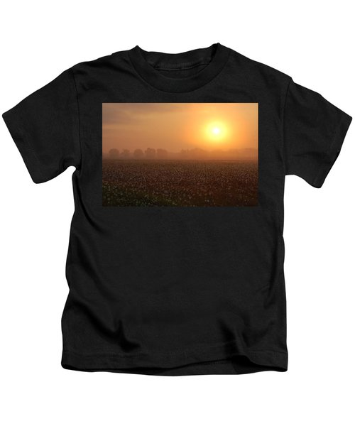 Sunrise And The Cotton Field Kids T-Shirt