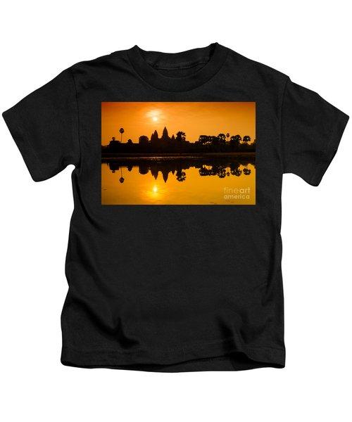 Sunrise At Angkor Wat Kids T-Shirt