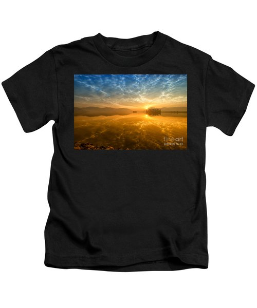 Sunrise At Jal Mahal Kids T-Shirt