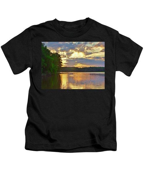 Sunrise At The Landing Kids T-Shirt