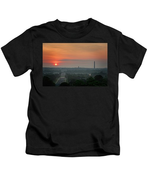 Sunrise From The Arlington House Kids T-Shirt