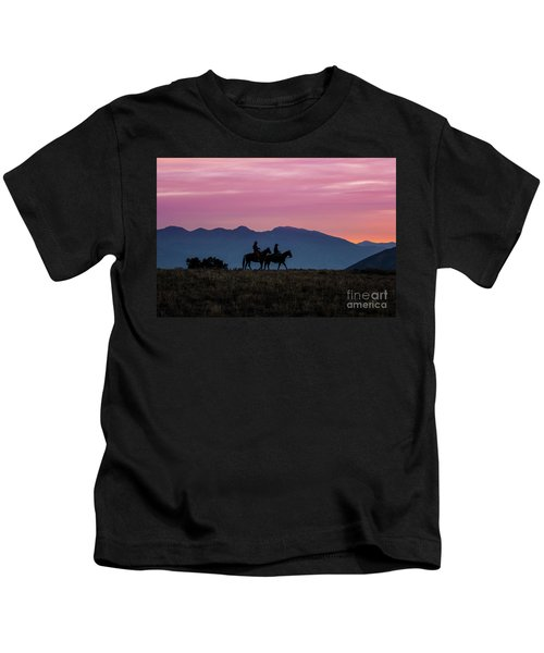 Sunrise In The Lost River Range Wild West Photography Art By Kay Kids T-Shirt