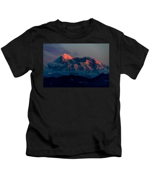 Sunrise On Denali Kids T-Shirt
