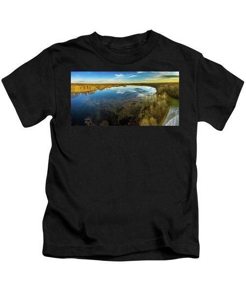 Sunrise On The Lake Kids T-Shirt