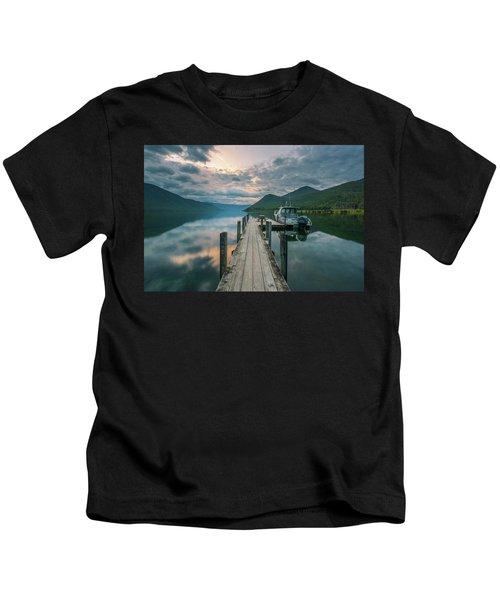 Sunrise Over Lake Rotoroa Kids T-Shirt