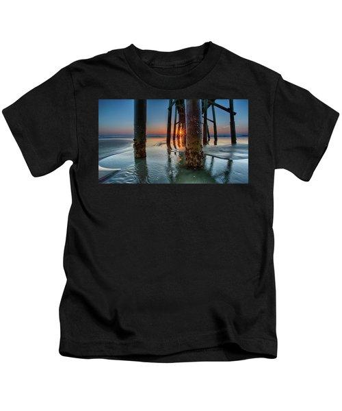 Sunrise Pier Kids T-Shirt