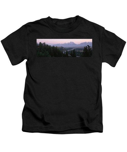 Sunrise Snake River Overlook Grand Kids T-Shirt