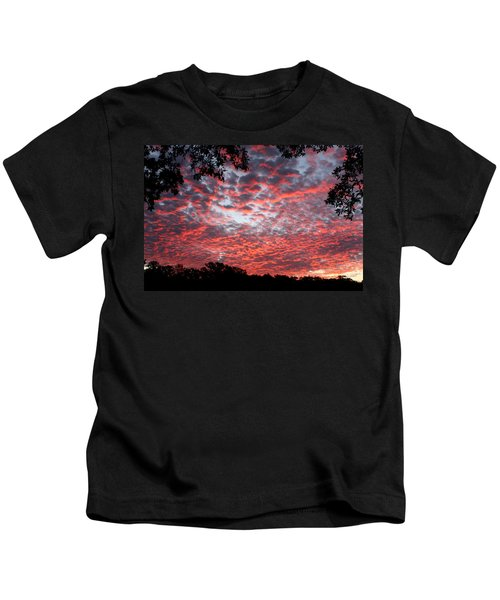 Sunrise Through The Trees Kids T-Shirt