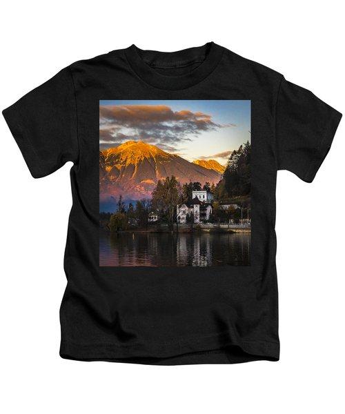 Sunset At Bled Kids T-Shirt