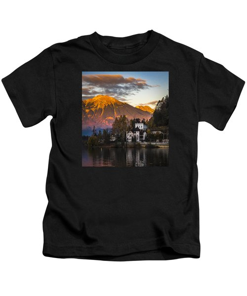 Sunset At Bled Kids T-Shirt