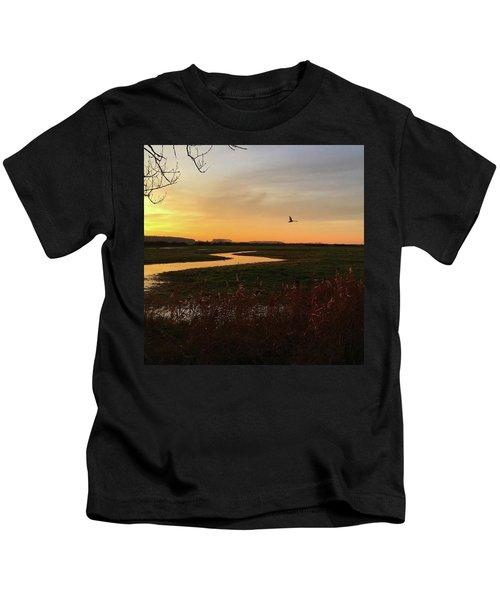 Sunset At Holkham Today  #landscape Kids T-Shirt