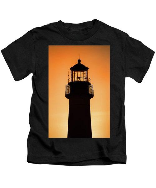 Sunset At Lighthouse Kids T-Shirt