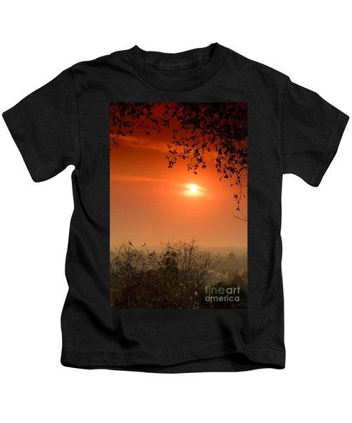 Sunset At Phnom Bakheng Of Angkor Wat Kids T-Shirt